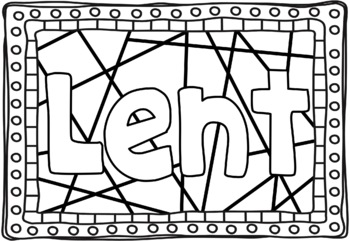 Lent & Ash Wednesday Colouring Pages ~ Bible Theme by