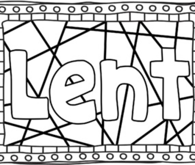 Lent Ash Wednesday Coloring Pages Bible Theme By Ponder And