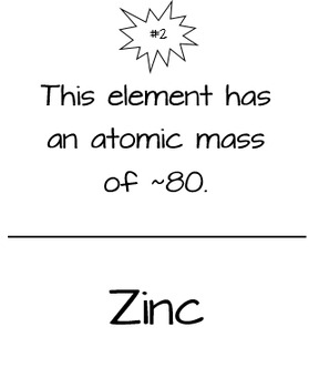 Atoms and The Periodic Table Scavenger Hunt by Maddox's