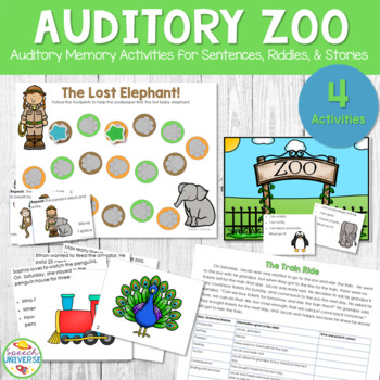 Auditory Zoo Auditory Memory Activities For Sentences