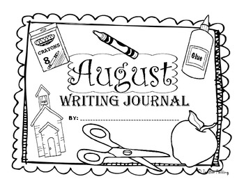 August Kindergarten Writing Prompts and Journal Pages