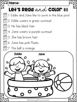 August Reading Comprehension Activities by Teaching