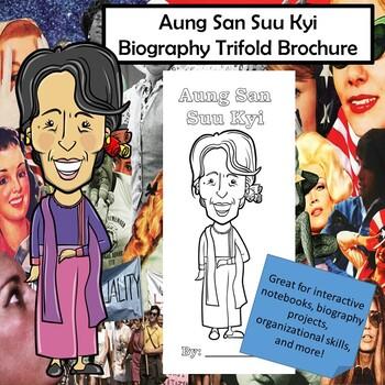 Aung San Suu Kyi Biography Trifold Graphic Organizer | TpT