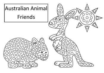 Australian Animals Art For Early Years Q Tip Painting