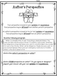 Point Of View Worksheets For Third Grade. Point. Best Free ...