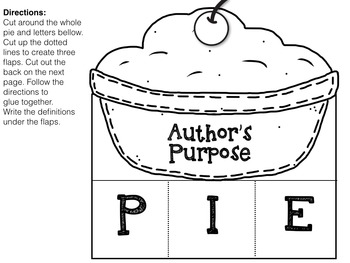 Author's Purpose PIE {Interactive Foldables & Worksheets
