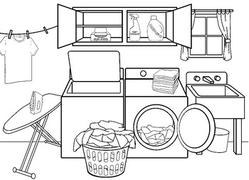 Autism: Laundry Room Follow Direction Worksheet by