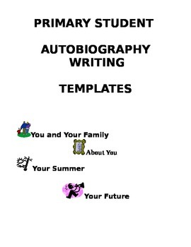 Autobiography Template Teaching Resources | Teachers Pay Teachers