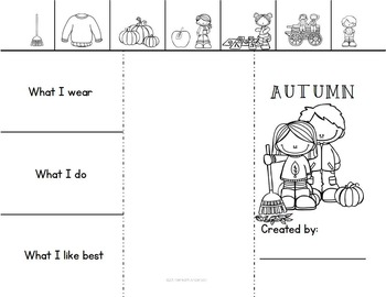 Fall Vocabulary Cards / 3-Part Montessori by Meredith