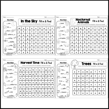 Autumn Word Search: Fill-in-and-Find Puzzles (Vocabulary