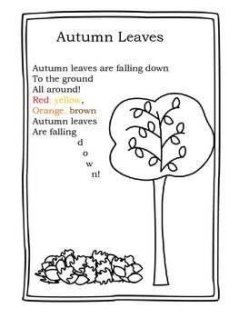 Autumn Leaves: A poem for young children by elizabeth