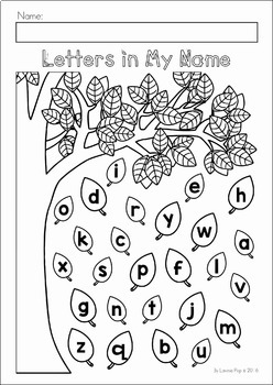 Autumn / Fall Preschool No Prep Worksheets & Activities by