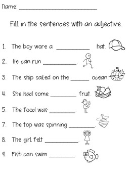 Adjectives Worksheet Adjective Activities Adjectives