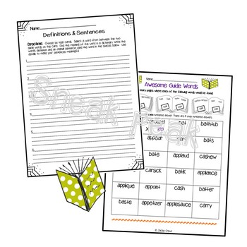 Awesome Guide Words with Task Cards & Activities by Jackie