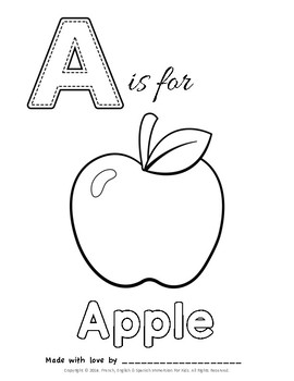 BABY SHOWER ABC COLORING BOOK! by French English And