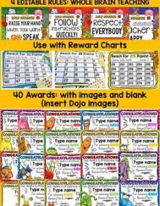 Behavior management editable reward charts monster class dojo also by rh teacherspayteachers