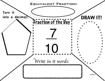 BELL RINGER: Fraction of the Day (23 days) by Jessica Cole