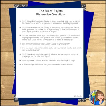 BILL OF RIGHTS Readings and Doodle Notes by Social Studies