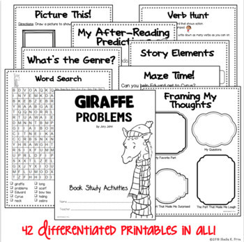 Giraffe Problems Differentiated Book Study Activities by