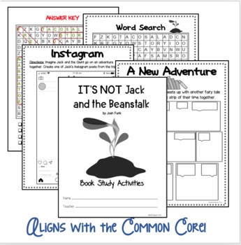 IT'S NOT Jack and the Beanstalk Differentiated Book Study