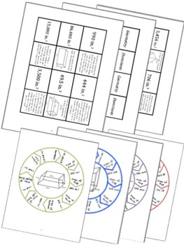BUNDLE 2-D and 3-D Geometry Math Stations for Common Core