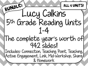 BUNDLE! 5th Grade Lucy Calkins Reading Units 1-4