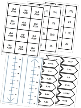 BUNDLE Integers and Rational Numbers Math Stations for