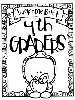 Back To School Activity Packet for Grades 3, 4, or 5 by