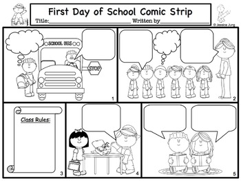 Back To School Comic Strip Writing by Jessica's Resources