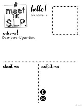 Back To School Editable Parent Letters for SLPs {Print or