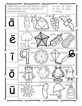Back-To-School Long and Short Vowel Sounds by Dollar