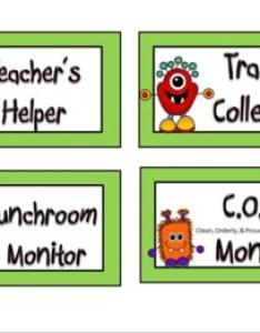 Back to school monster themed class job chart also teaching resources teachers pay rh teacherspayteachers