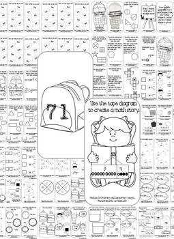 Back to School: 2nd Grade Task Cards and Journal (Math) by