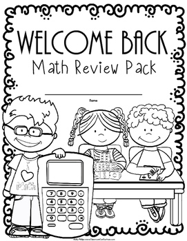 Back to School Math Worksheets: 4th Grade Review