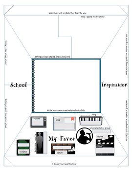 """Back to School """"About Me"""" One-Pager Template + """"Letter to"""
