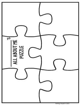 Back to School All About Me Puzzle {FREEBIE!} by Just Reed