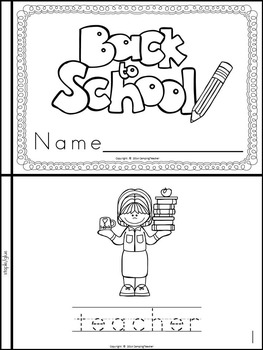 Back to School Book {For Kindergarten and 1st Grade} by