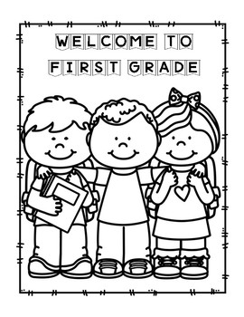 Back to School Coloring Sheets First Grade by Teaching