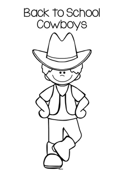 Back to School Cowboy Themed Glyphs by The 9th Inning
