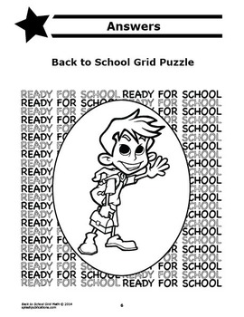 Back to School Activity (Mystery Puzzle, Coordinate