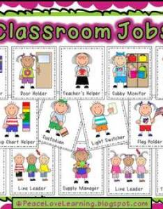 Back to school instant job chart also by  conway tpt rh teacherspayteachers