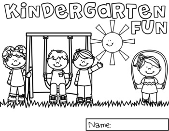 Back to School Kindergarten Coloring Pages by Red Headed