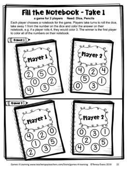 Back to School Math Games First Grade: Back to School