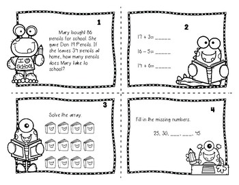 Back to School Math Task Cards (3rd grade) by Teaching