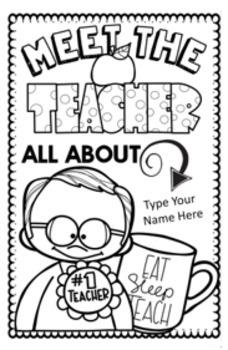 Meet the Teacher Template Editable: Alternative for a Meet