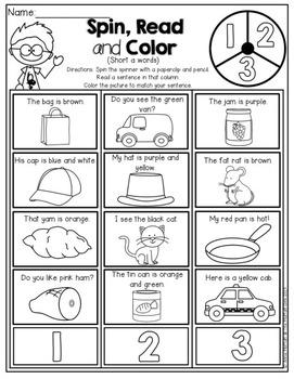 Back to School NO PREP Math and Literacy Packet (1st Grade