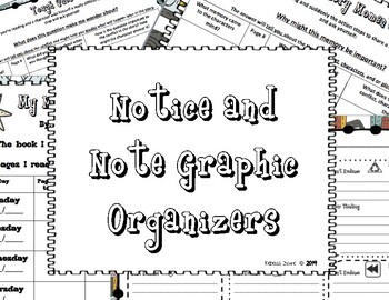 Back to School Notice & Note Graphic Organizers by Parker