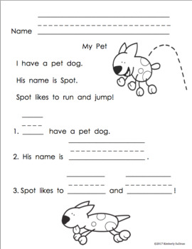 Reading Comprehension Passages and questions Grade 1 by