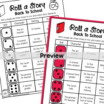 Back to School Roll a Story Writing Prompt by Terrific