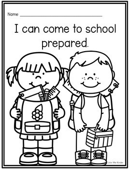 School Rules Coloring Pages Sketch Coloring Page